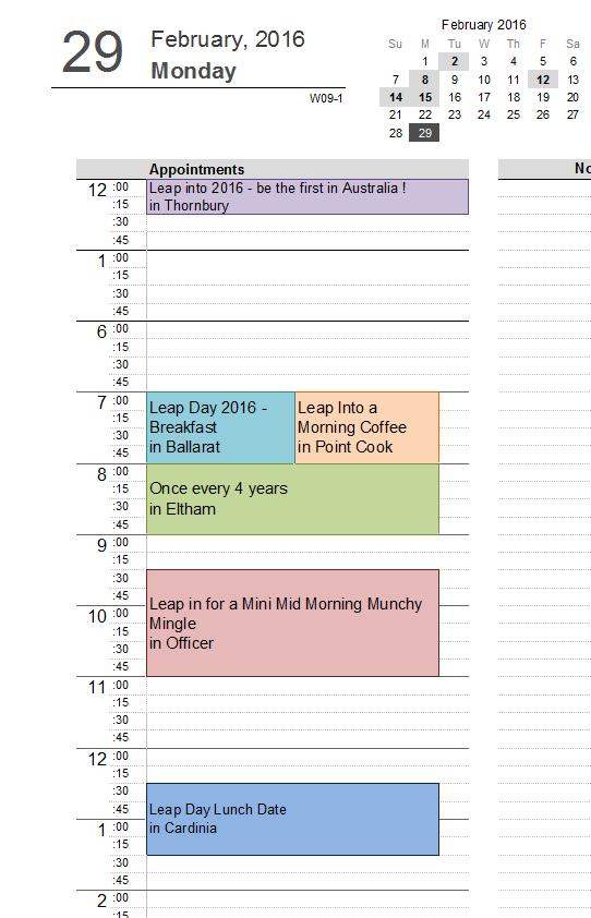 am calendar